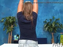 Sweet 18yo frenzy old candy grabs buggered tough doggystyle by her massage therapist